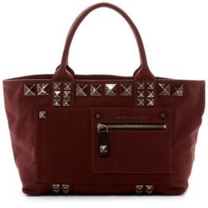Marc Jacobs canvas chipped studs tote bag